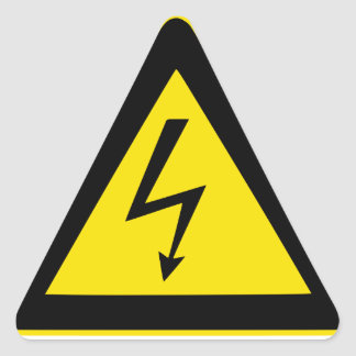 High Voltage Triangle Sticker