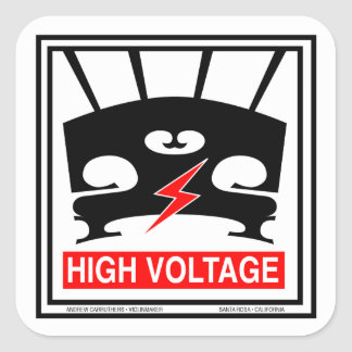 High Voltage Violin Square Sticker
