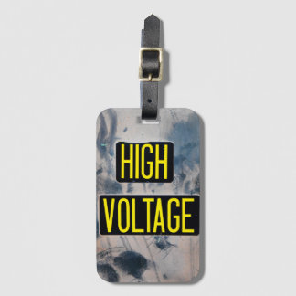 High Voltage Warning Sign - FUNNY Luggage Tag