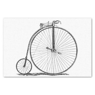 High Wheeler Victorian Penny Farthing Cycle biking Tissue Paper
