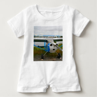 High wing aircraft, blue & white, Alaska Baby Romper