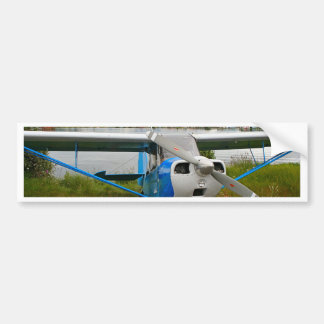 High wing aircraft, blue & white, Alaska Bumper Sticker
