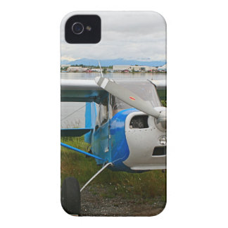 High wing aircraft, blue & white, Alaska Case-Mate iPhone 4 Cases