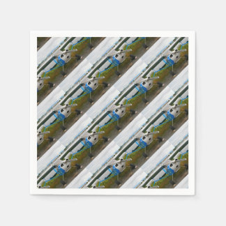 High wing aircraft, blue & white, Alaska Paper Napkin