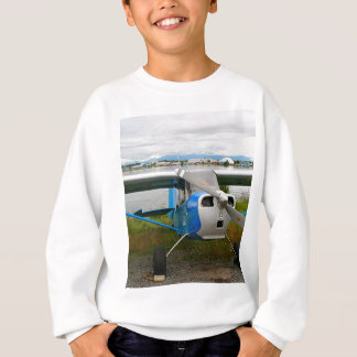 High wing aircraft, blue & white, Alaska Sweatshirt
