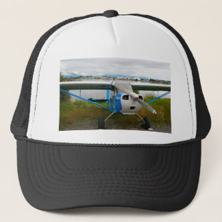 High wing aircraft, blue & white, Alaska Trucker Hat