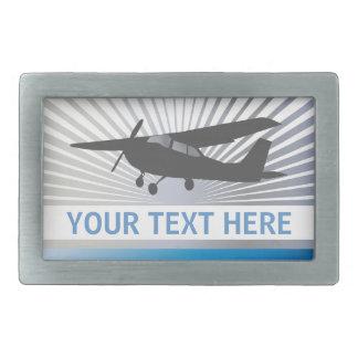 High Wing Aircraft - Custom Text Belt Buckle