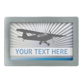High Wing Taildragger Aircraft Rectangular Belt Buckle
