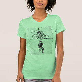 High-wire Bicycle - Vintage Circus Cycling Act Shirts