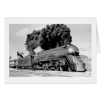 Highball it! Vintage 21st Century Railroad Engine Card