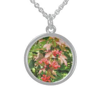 Highbush Cranberries Sterling Silver Necklace