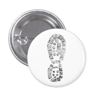 Highcountryhiker's Hiking Boot (logo) 1 Inch Round Button