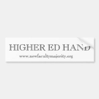 Higher Ed Hand Bumper Sticker