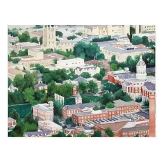 """Higher Education"" University Of Missouri Ariel Postcard"