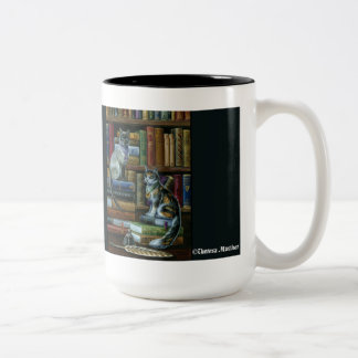Higher Learning Library Cats Mug