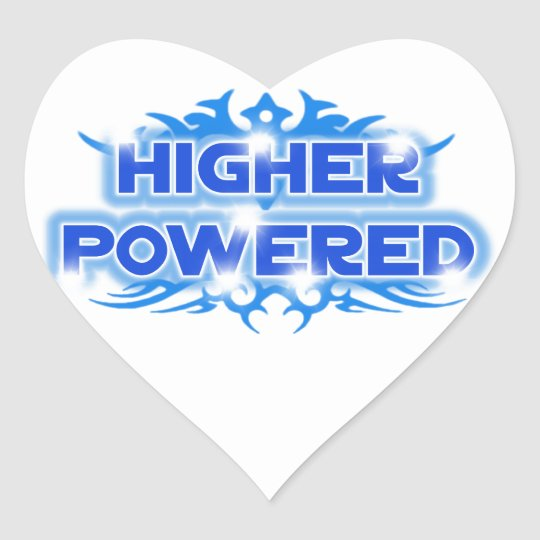 Higher Powered Heart Sticker