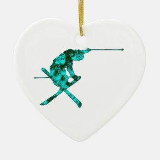 Higher Space Ceramic Heart Ornament