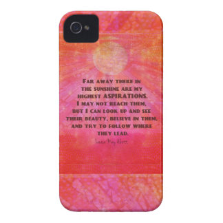 Highest Aspirations quote Louisa May Alcott Case-Mate iPhone 4 Cases