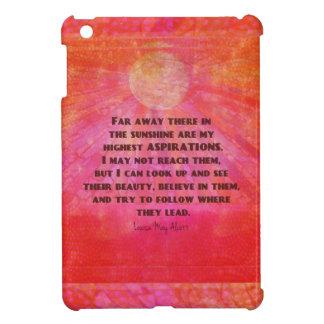 Highest Aspirations quote Louisa May Alcott iPad Mini Cover