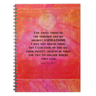 Highest Aspirations quote Louisa May Alcott Notebooks