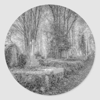 Highgate Cemetery London Classic Round Sticker