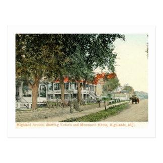 Highland Ave., Atlantic Highlands, NJ Vintage Postcard