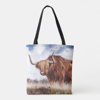 Highland Bull Shopping Tote