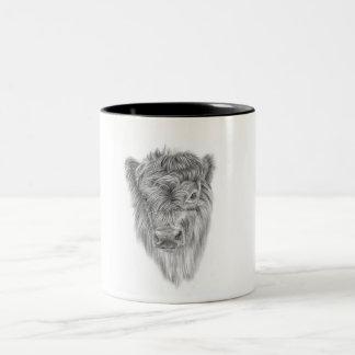 Highland Calf Two-Tone Coffee Mug