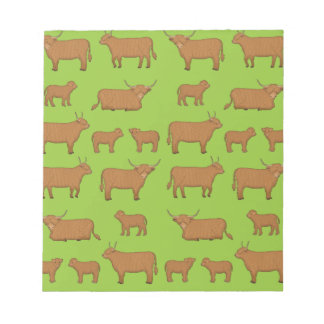 Highland Cattle Notepad