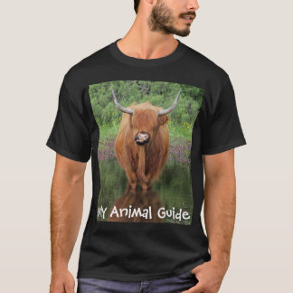Highland cow animal guide shirt