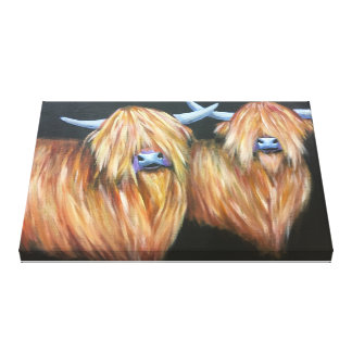 Highland Cow art, cow painting , wall art