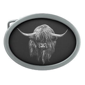 Highland Cow Belt Buckles