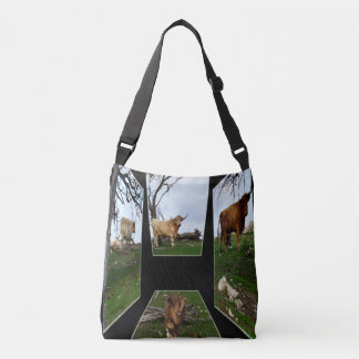 Highland Cow Dimensional Art, Crossbody Bag