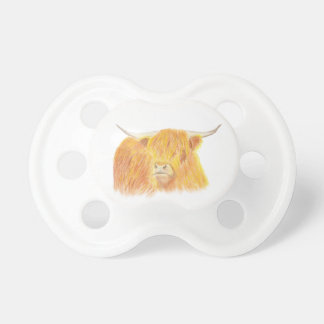 Highland cow dummy, baby pacifier