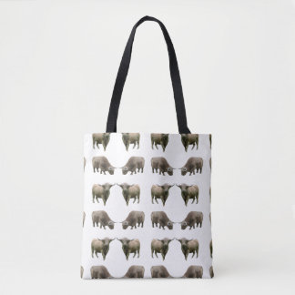 Highland Cow Frenzy All-Over-Print Bag