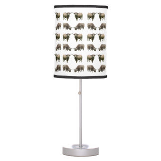 Highland Cow Frenzy Lamp (choose colour)