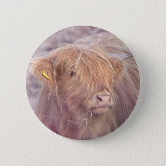 Highland Cow, Highland Cattle 2 Inch Round Button
