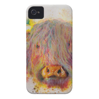 Highland Cow iPhone 4 Case-Mate Case