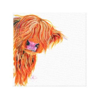Highland Cow 'Peekaboo' Box Canvas Print