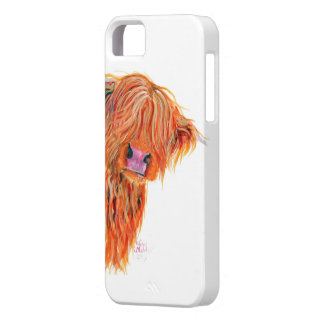 Highland Cow 'Peekaboo' for Iphone and Samsung iPhone 5 Covers