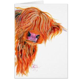 Highland Cow 'Peekaboo' Greeting Card