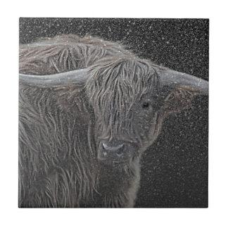 Highland cow tile