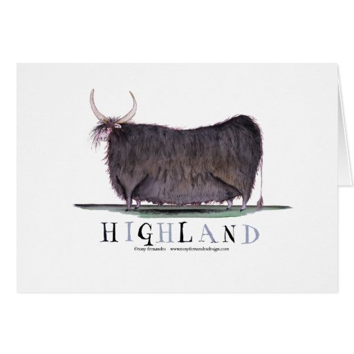highland cow, tony fernandes greeting cards