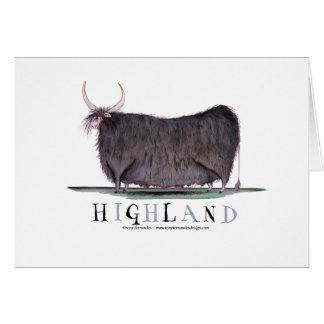 highland cow, tony fernandes greeting card