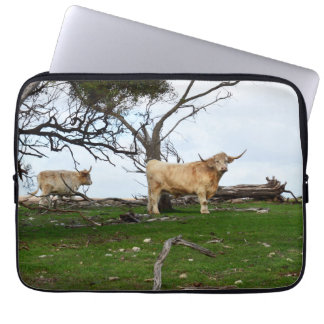 Highland Cows In The Country, Laptop Sleeve