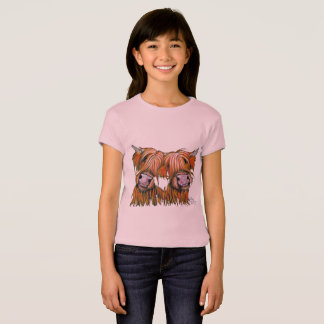 Highland Cows ' THE LOVELIES' by Shirley MacArthur T-Shirt