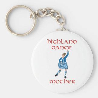 Highland Dance Mother - Teal Basic Round Button Keychain