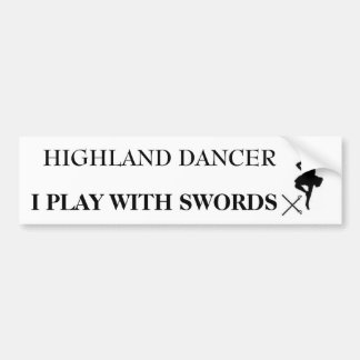 highland dancer b bumper sticker