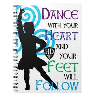 Highland Dancer Boy Note Pad Notebook