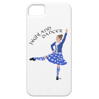 Highland Dancer in Blue iPhone 5 Cover